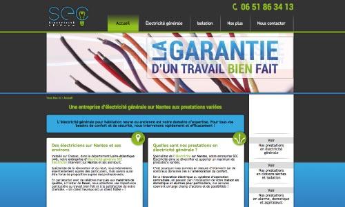 Création site web SEC électricité - Fair