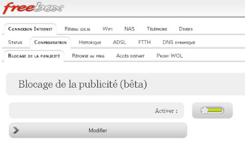 interface free : blocage de la pub Fair Agence web Nantes 44