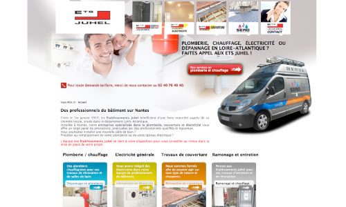 site-internet-ets-juhel Fair Agence web Nantes 44