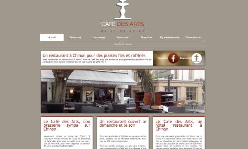site-internet-le-cafe-des-arts Fair Agence web Nantes 44