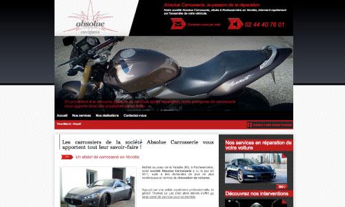 site-web-absolue-carrosserie Fair Agence web Nantes 44