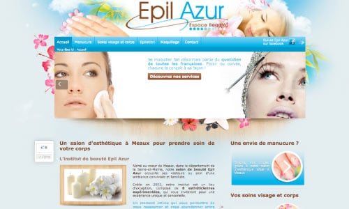 site-web-epil-azur Fair Agence web Nantes 44