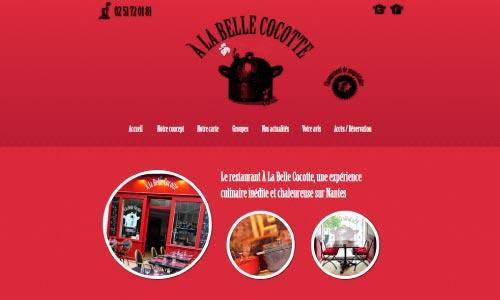 creation site internet restaurant À la Belle Cocotte Fair Agence web Nantes 44