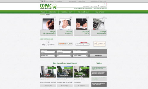 Site internet COPAC Immobilier Fair Agence web Nantes 44