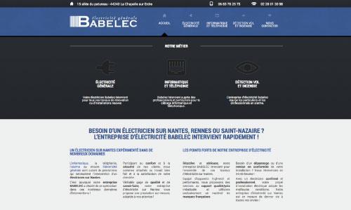 site web de Babelec Electricite Generale Fair Agence web Nantes 44