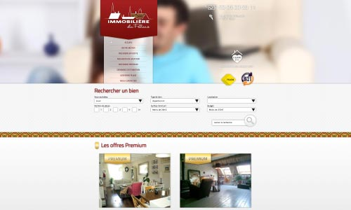 Création site web de l'Immobilière du Palais