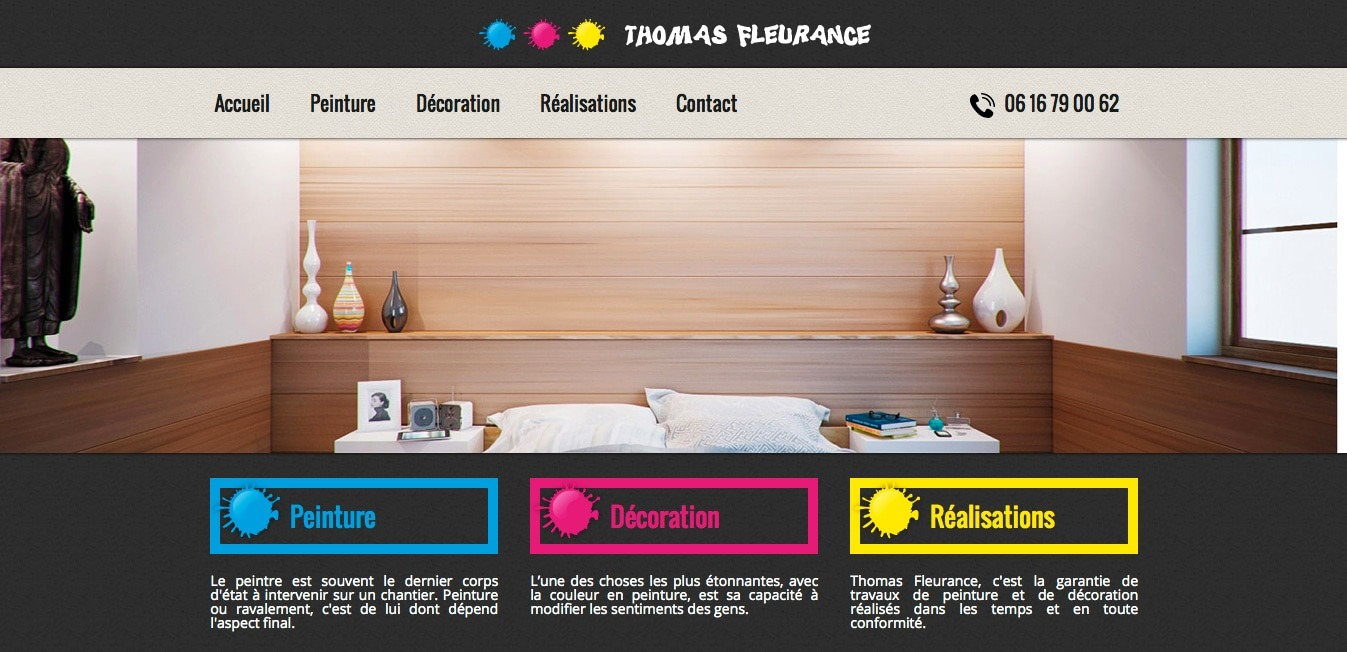 r alisation site internet thomas fleurance peinture nantes. Black Bedroom Furniture Sets. Home Design Ideas