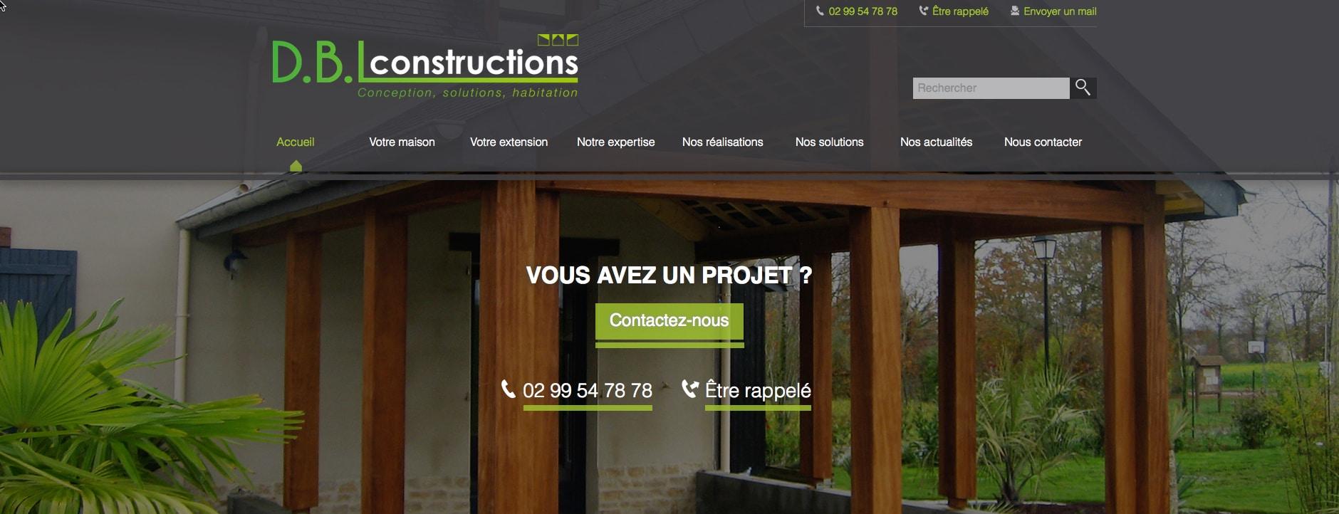 l 39 agence fair nantes r alise le site web dbl constructions. Black Bedroom Furniture Sets. Home Design Ideas