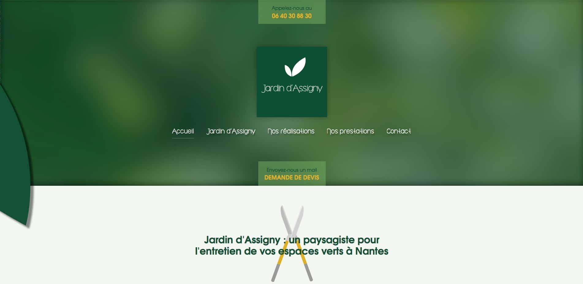 Conceptions sites web nantes dans les m tiers de services for Entretien jardin nantes